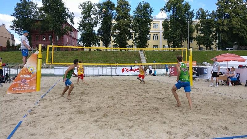 Борьба за выход в полуфинал, 22 июля, Ярославль, этап первенства России по пляжному волейболу