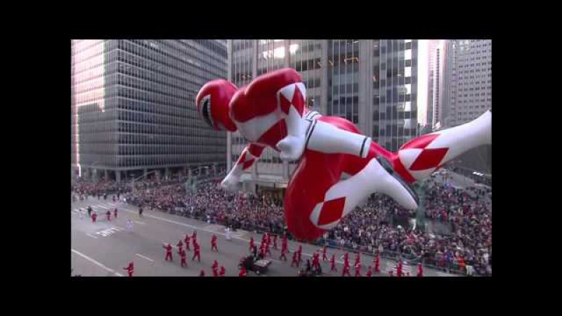 Macy's Thanksgiving Day Parade 2015 - MMPR Red Balloon (CBS) [1080p]