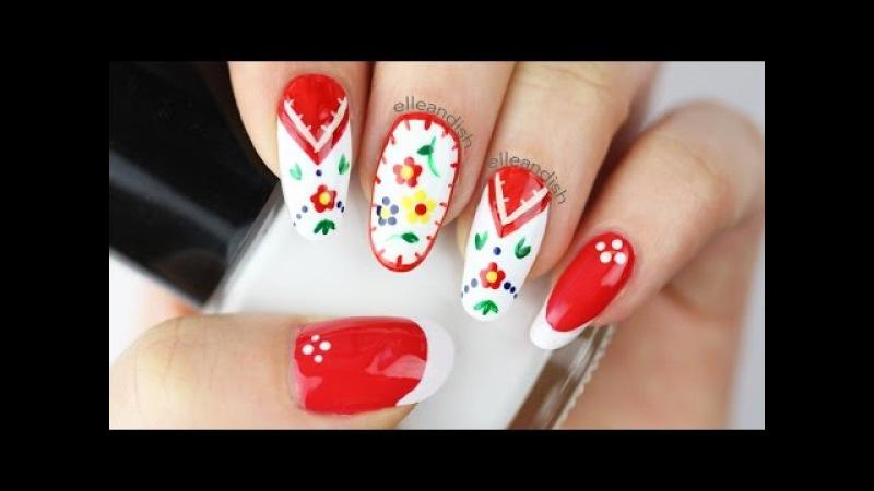 ✿ Embroidery Folk Art Nails ✿