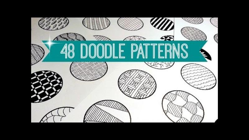 48 EASY DOODLE PATTERNS | ZENTANGLE MANDALA | SOLLOMIO