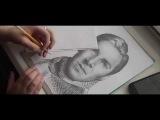 Benedict Cumberbatch (ШЕРЛОК) рисунок карандашом Anna Mayr 2017