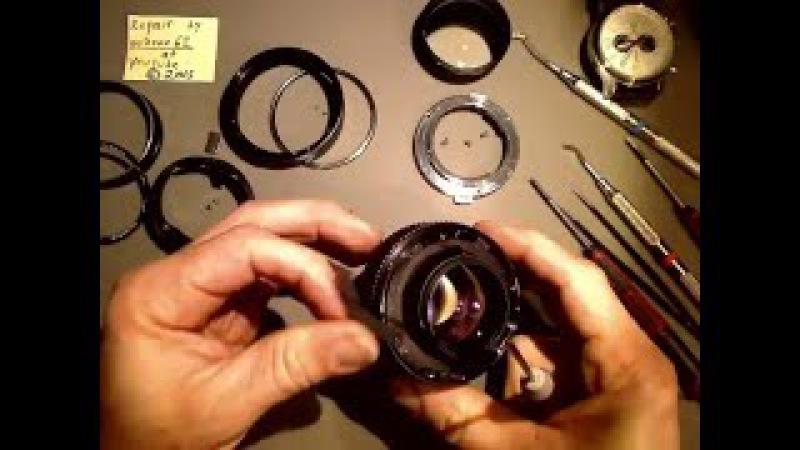 Oil on aperture blades in OLYMPUS G.ZUIKO Auto-S 55mm 1:1.2_PART_1_Motion Lapse Film