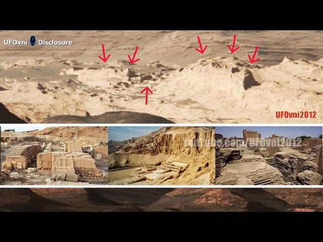 Starověké ruiny mimozemského města na Marsu v oficiálních obrázcích NASA