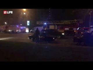 Жилой комплекс Дирижабль в центре Москвы эвакуируют из-за пожара