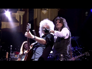 Alice Cooper Brian May - Schools Out. Ian Paice's Sunflower Superjam, Royal Albert Hall, London. 16.09.2012