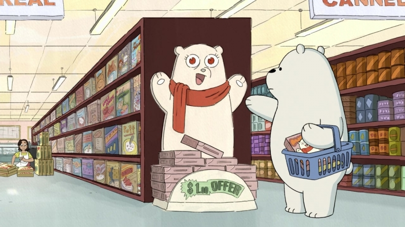 Уважуха (We Bare Bears / Мы обычные медведи 3х06)