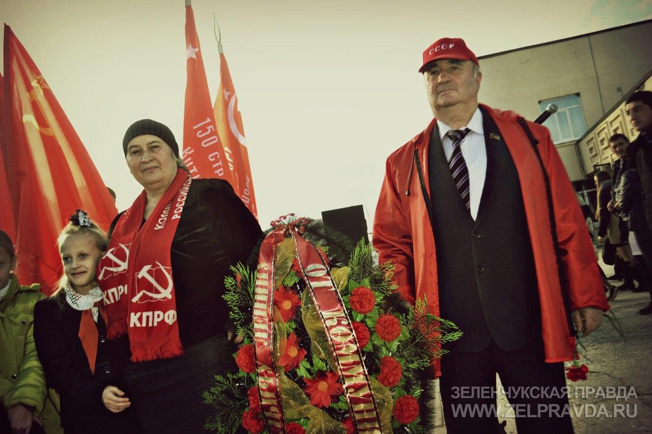 В Зеленчукской отметили 99 годовщину Октябрьской революции