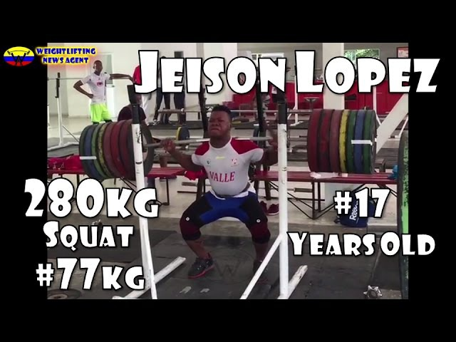 Jeison Lopez's 280kg squat 77kg 17 y.o. | Olympic Weightlifting Training | Motivation