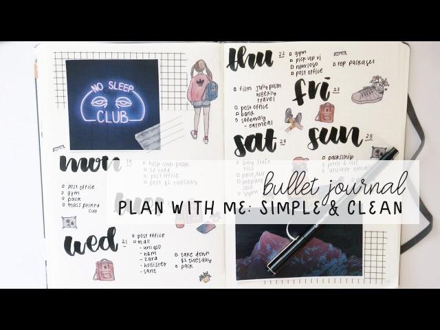 Plan with me: simple clean - weekly spread bullet journal