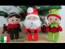Babbo Natale, elfo e renna amigurumi: schema base