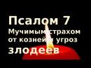 Псалом 7 Мучимым страхом от козней и угроз злодеев