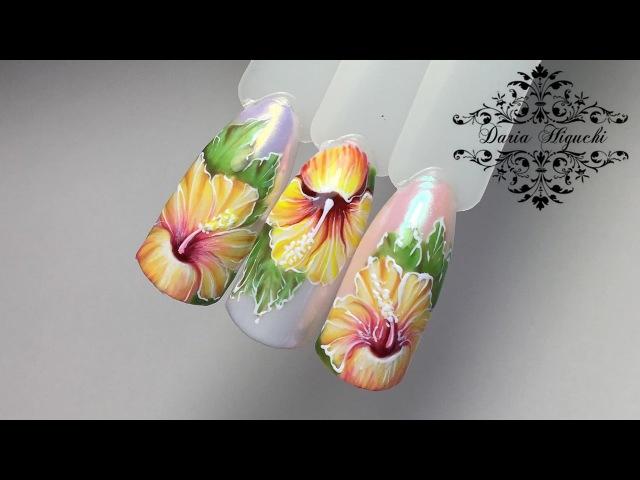 Флористика дизайн ногтей