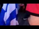 Mark Lex Eros - Greek flag getting burned by albanian mob