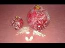 Декор новогодней игрушки на елку Ручная работа