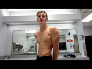 Teen Bodybuilder Ripped Nick Flexing Lean Muscle Gainz (HD)