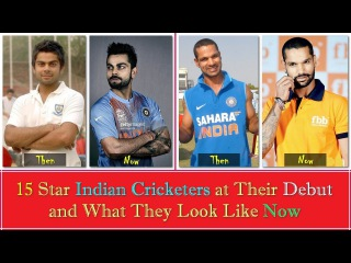 15 Star Indian Cricketers at Their Debut and What They Look Like Now || Then and Now