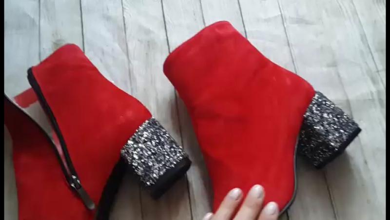 Відео огляд шкіряне взуття Колір червоний