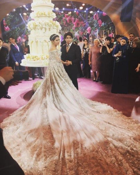 Видео со свадьбы дочери таджикского олигарха Илхома Шокирова в  Москве