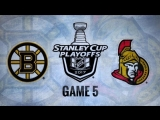 NHL 17 PS4. 2017 STANLEY CUP PLAYOFFS 100th FIRST ROUND GAME 5 EAST. BOS VS OTT. 04.21.2017. (NBCSN)