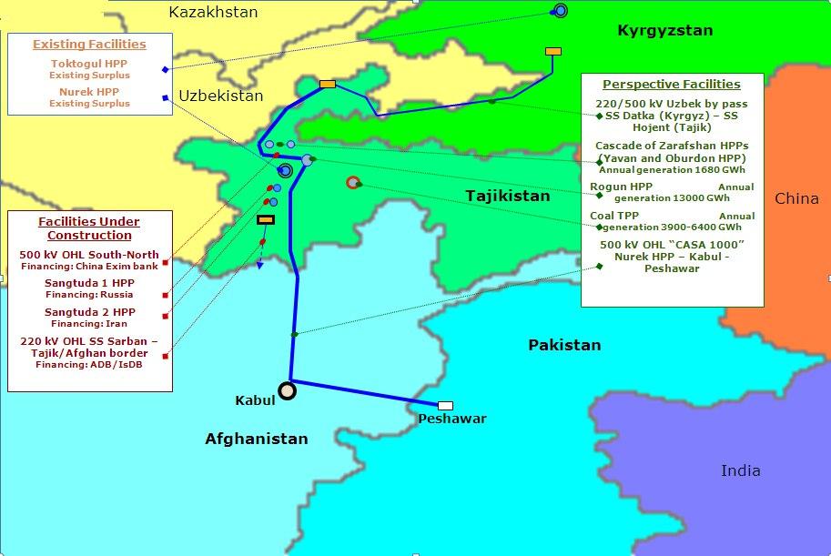Объявлен тендер на выбор подрядчика для возведения инфраструктуры CASA-1000 в Таджикистане.