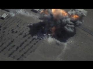 Уничтожение объектов ИГИЛ в Сирии крылатыми ракетами Х-101, запущенными с самолета