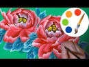 How to paint The Peony, paint a flower, onestroke, irishkalia