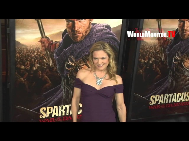 Victoria Pratt arrives at Spartacus - War of the Damned U.S Premiere