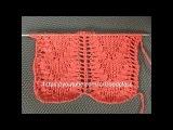 Узор Сердца в ажуре. Вязание спицами. Knitting