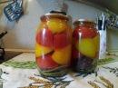 Сладкие резанные помидоры в желе на зиму
