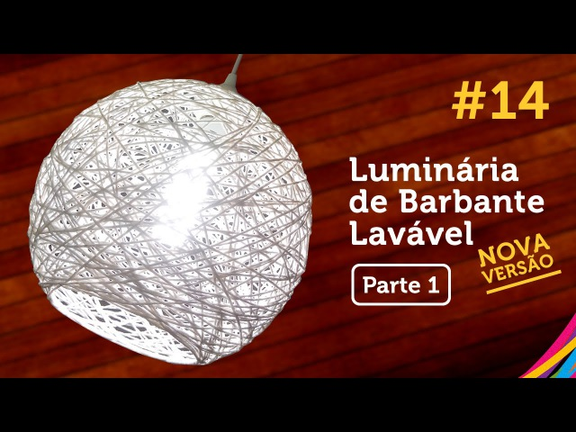 Luminária de Barbante Lavável [PARTE 1] / Twine Lampshade / Lampara de Hilo DIY 14