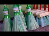 Бизнес идея в гараже  Изготовление метел из пластиковых бутылок