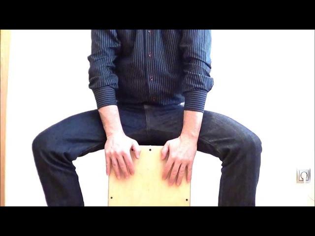 Clases cajón Flamenco. 1ª. Postura, colocación, tresillos acentuados, manoteo y Rumbas catalanas.