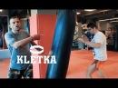 Парная тренировка по боксу и тайскому боксу работа на мешке от Андрея Басынина