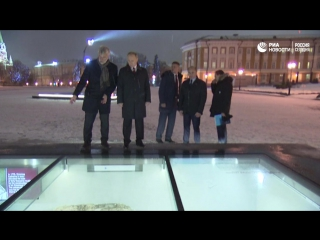 Путин осмотрел археологические шурфы