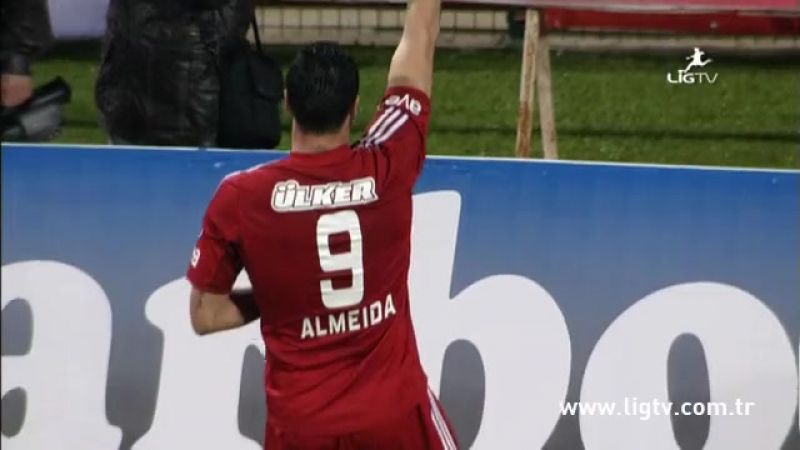 2012 - 2013 Sezonu - M.P. Antalyaspor-Beşiktaş dakika 69 gol Hugo Almeida