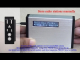 TIVDIO Portable Digital DAB+DAB Receiver+FM Radio Pocket Receiver With Earphone Music Player Automatic Radio Stataion F9204D