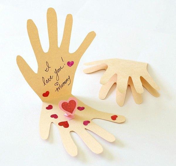 день мамы открытки своими руками