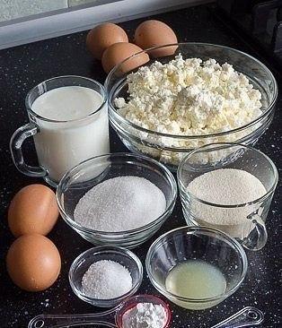 Творожно-манная запеканка Ингредиенты ● Манка 1/2 стак. (90г.) ● Кефир