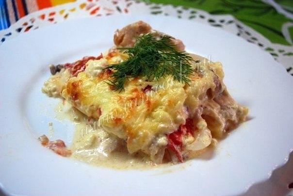 Куриная запеканка по-французски Ингредиенты: Куриное филе - 400 грамм Картофель