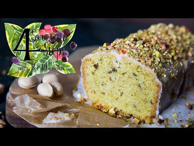 4ステップで出来るピスタチオと抹茶のパウンドケーキ Matcha Pistachio Pound Cake in 4 Easy Steps