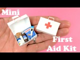 DIY Miniature First Aid Kit &amp Accessories - Band Aids, Thermometer, Medicine - Doll Crafts