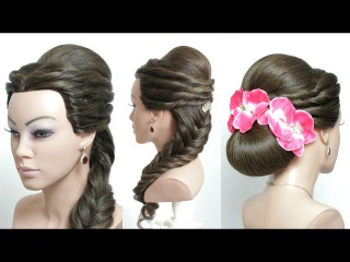 2 Wedding Hairstyles For Long Hair Tutorial. Bridal Updos