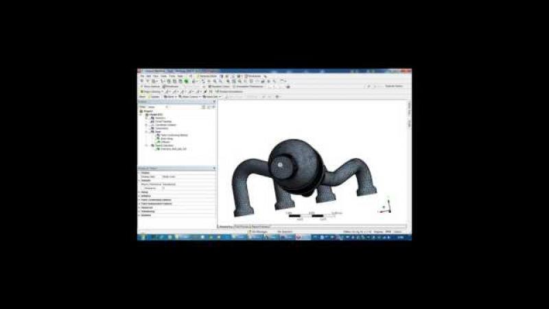 Видеоурок CADFEM VL1505 - Расчет на усталостную долговечность выхлопного коллектора а...