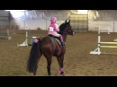 5 year old jumping 2'6 Jumping Course - Kinsley and Ruby