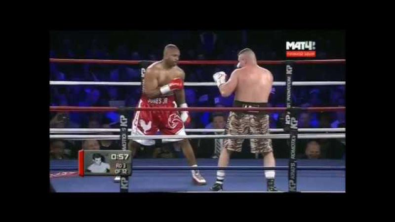 Bobby Gunn vs Roy Jones Jr. Рой Джонс-младший - Бобби Ганн полный бой tko HD