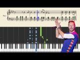 Coldplay - Viva La Vida - Piano Tutorial + Sheets
