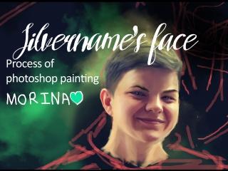 Silvername's portrait (photoshop painting)