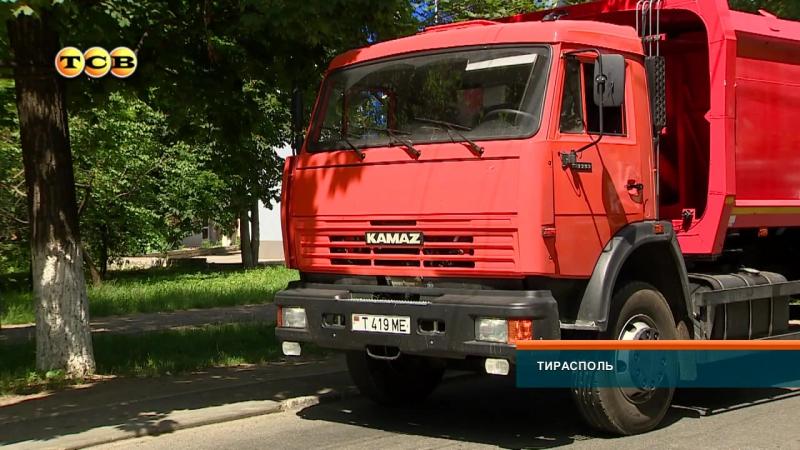 В Тирасполь прибыли новые мусоровозы