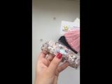 Набор : нежно-розовый ободок и серьги