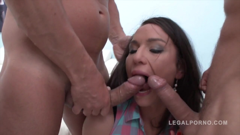 Nataly Gold amp Olivia Devine ( In anal foursome with piss in mouth amp double penetration) 2017, Gape,
